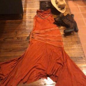Jean Paul Gaultier Gorgeous rust suede dress
